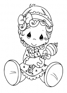 Coloring page precious time to color for kids