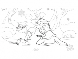 Coloring page princes sofia to print