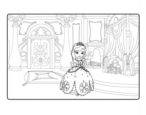 Coloring page princes sofia free to color for children