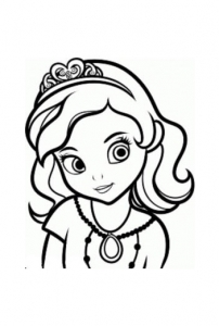 Coloring page princes sofia to color for kids