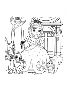 Coloring page princes sofia free to color for kids