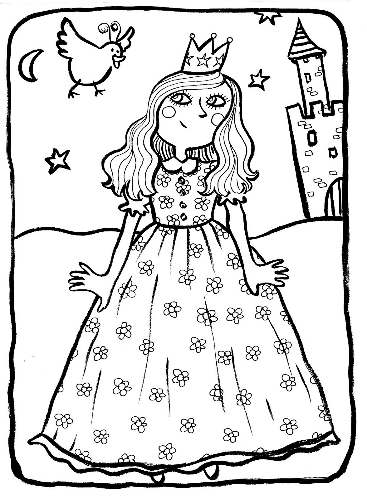 Free Princesses coloring page to download