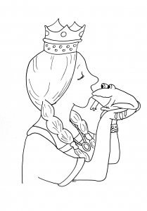 Coloring page princesses to download for free