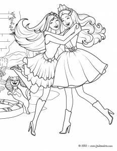 Coloring page princesses to print for free
