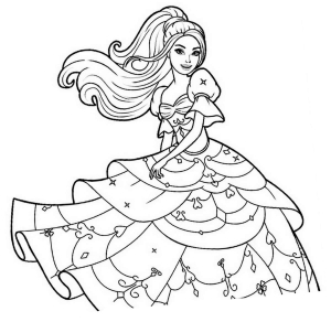 Coloring page princesses to color for kids