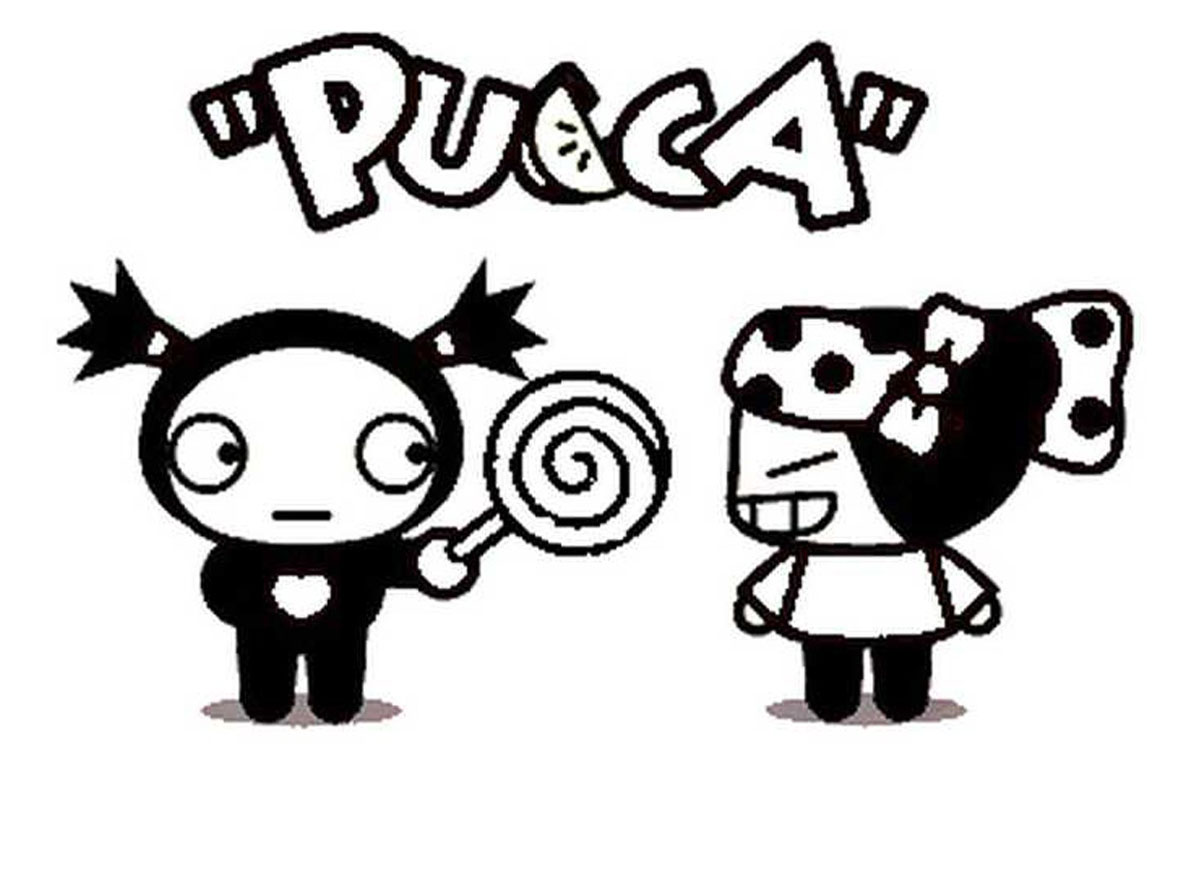 Printable Pucca coloring page to print and color for free