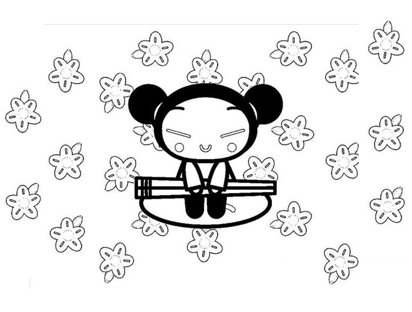 Pucca coloring page to download