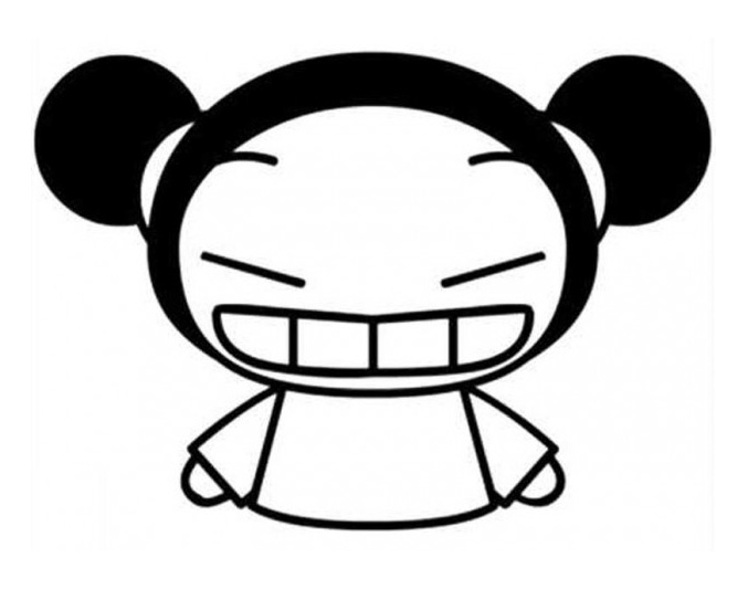 Free Pucca coloring page to print and color, for kids