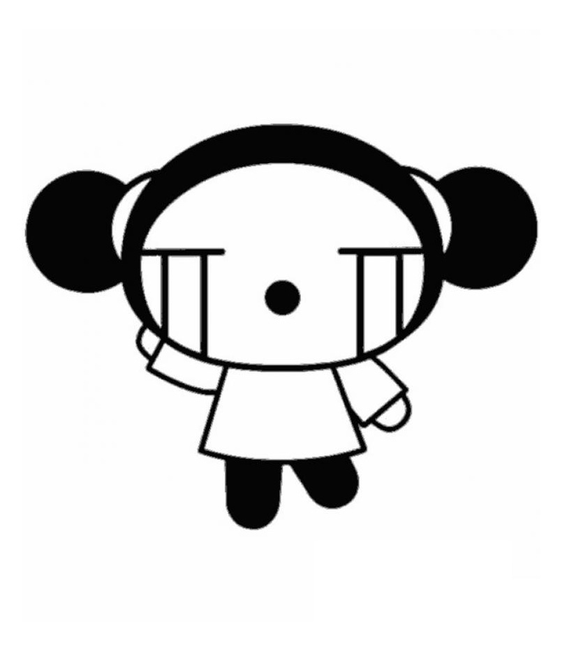 Funny Pucca coloring page for children