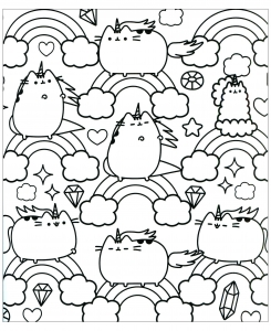 pusheen coloring pages to print Pusheen   Free printable Coloring pages for kids pusheen coloring pages to print