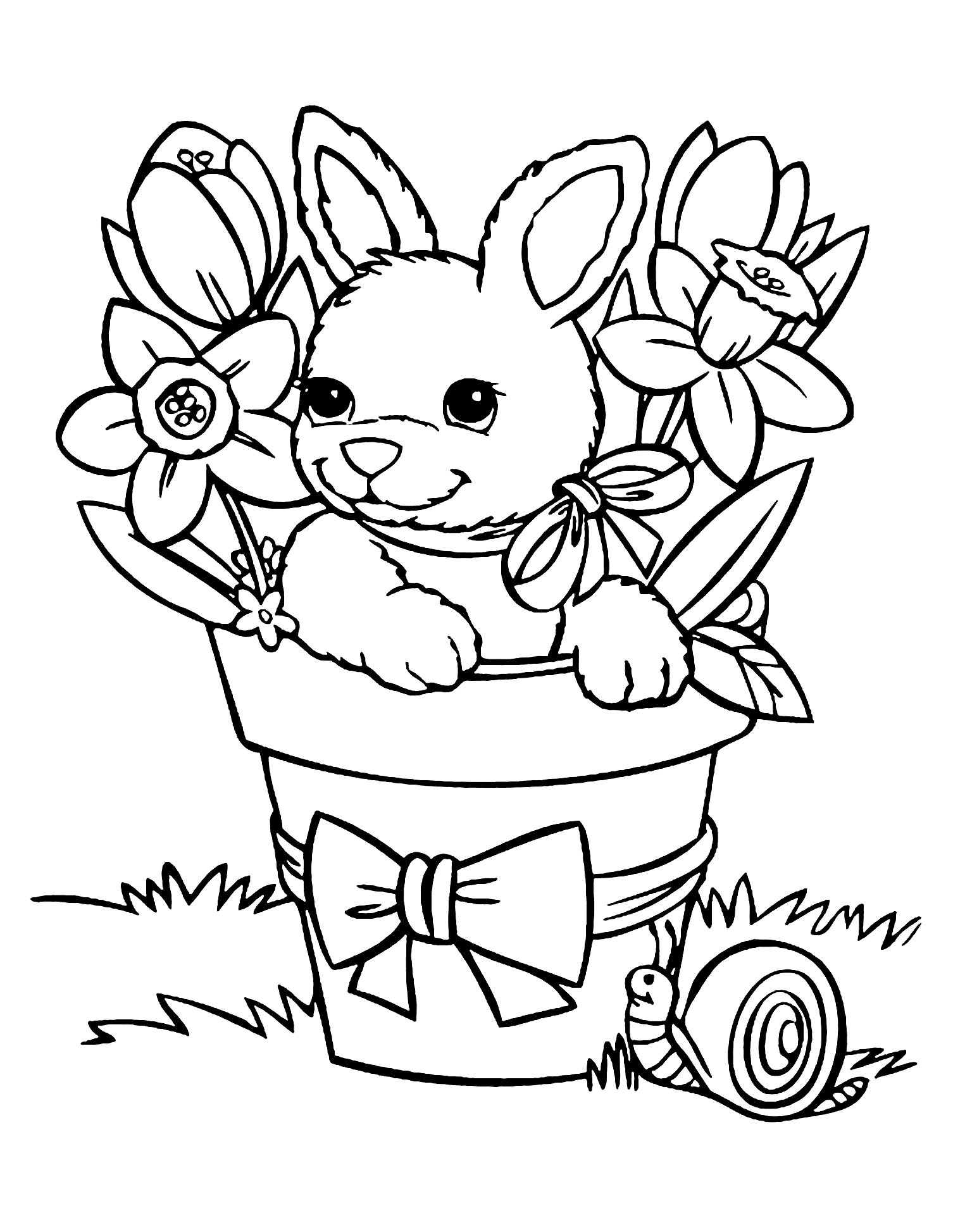 Rabbit to download for free - Rabbit Kids Coloring Pages