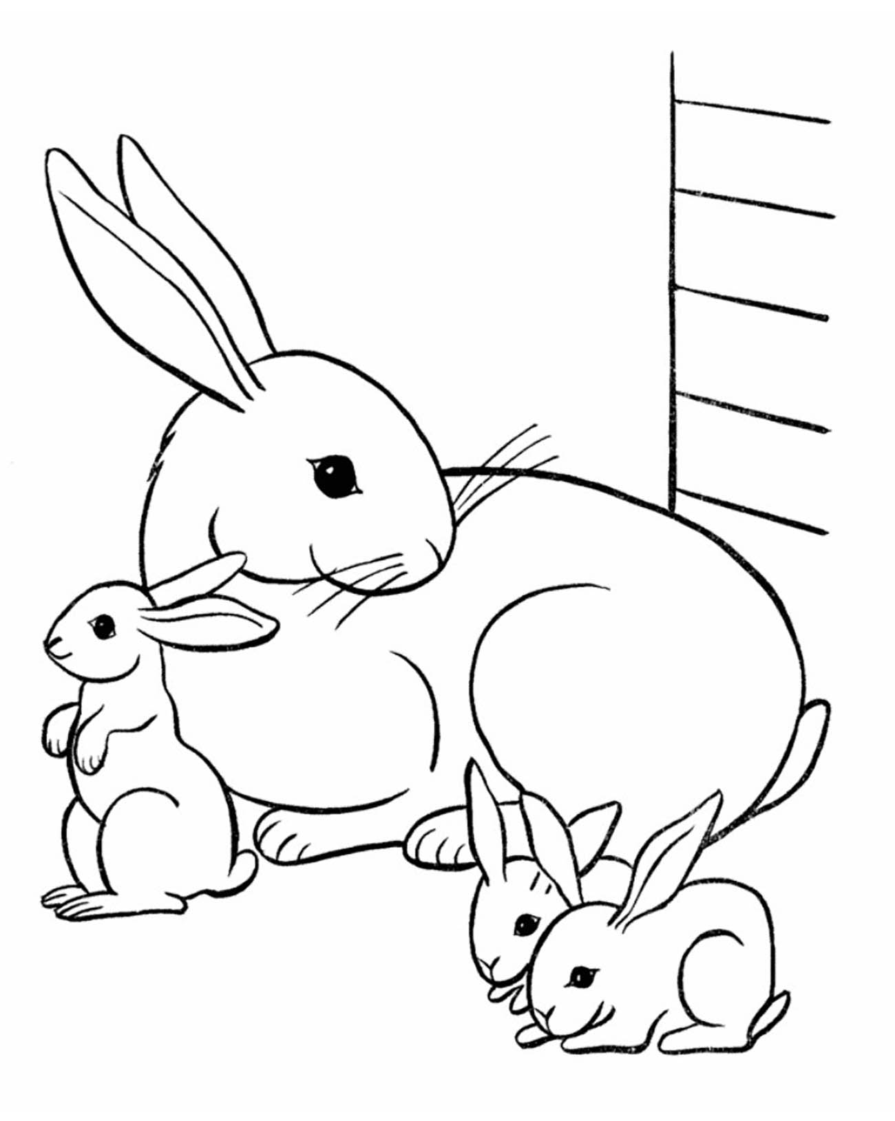 Incredible Rabbit coloring page to print and color for free