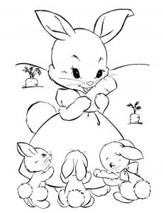 Coloring page rabbit free to color for children