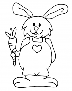 Coloring page rabbit to color for kids