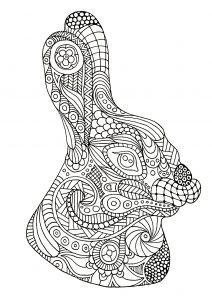 Coloring page rabbit for kids