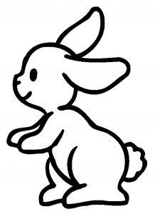Coloring page rabbit for children