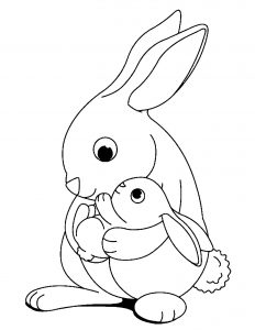 Coloring page rabbit to print for free