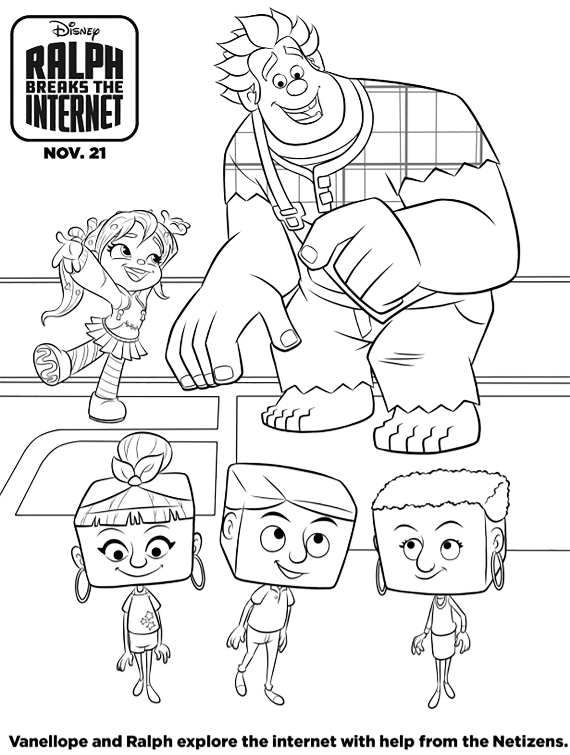 Funny Wreck it Ralph 2.0 coloring page