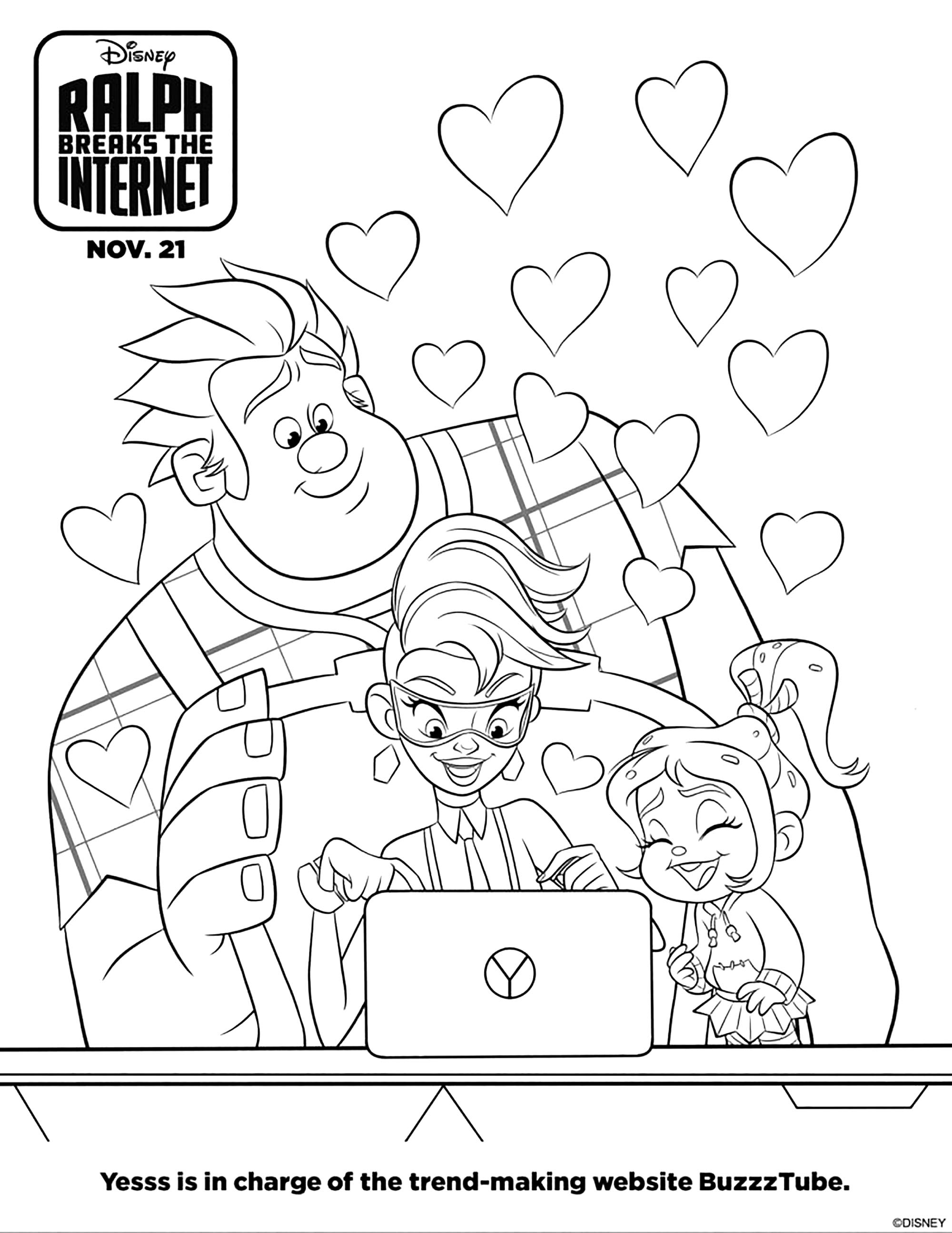 - Ralph 2.0 - Wreck It Ralph 2 Kids Coloring Pages