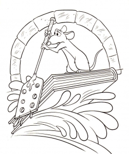 Coloring page ratatouille for kids
