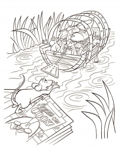 Coloring page ratatouille free to color for children