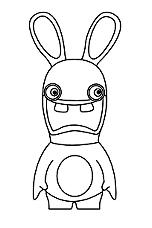 Raving rabbids for children - Raving Rabbids Kids Coloring Pages