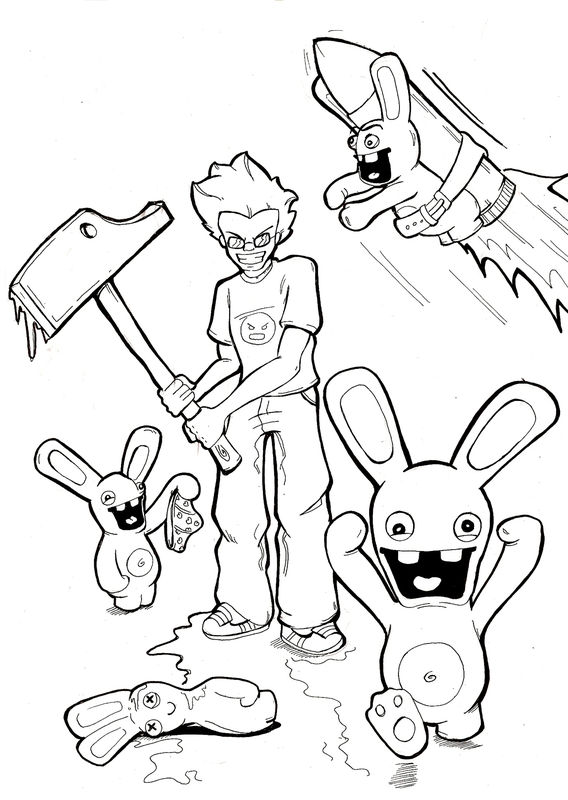 Raving rabbids free to color for children - Raving Rabbids Kids ...