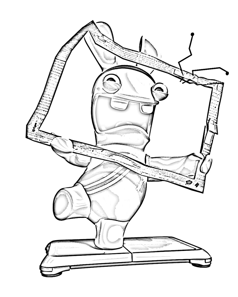 Free Raving Rabbids coloring page to print and color