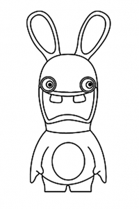 raving rabbids coloring page with few details for kids