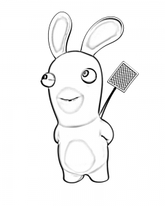 beautiful raving rabbids coloring page