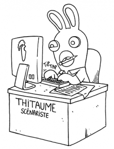 Coloring page raving rabbids to print