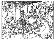 Auguste Renoir Coloring Pages for Kids
