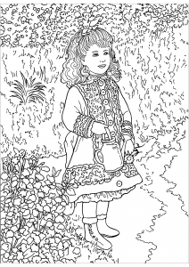 Coloring page auguste renoir to color for children