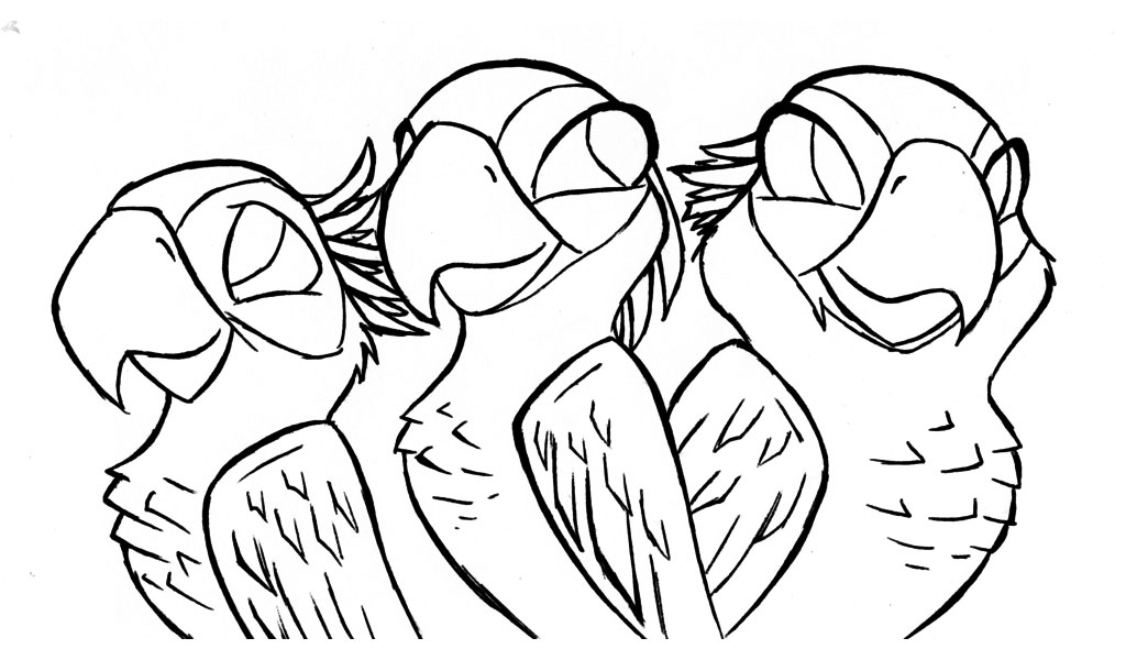 Simple free Rio 2 coloring page to print and color