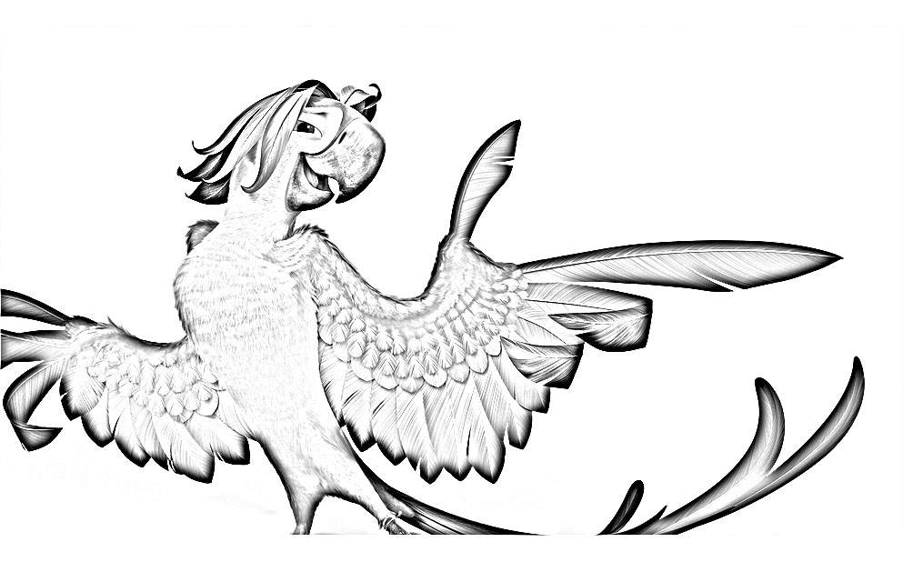 Free Rio 2 coloring page to print and color, for kids