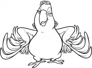 Coloring page rio 2 free to color for kids