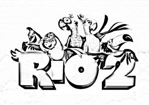 Coloring page rio 2 for kids
