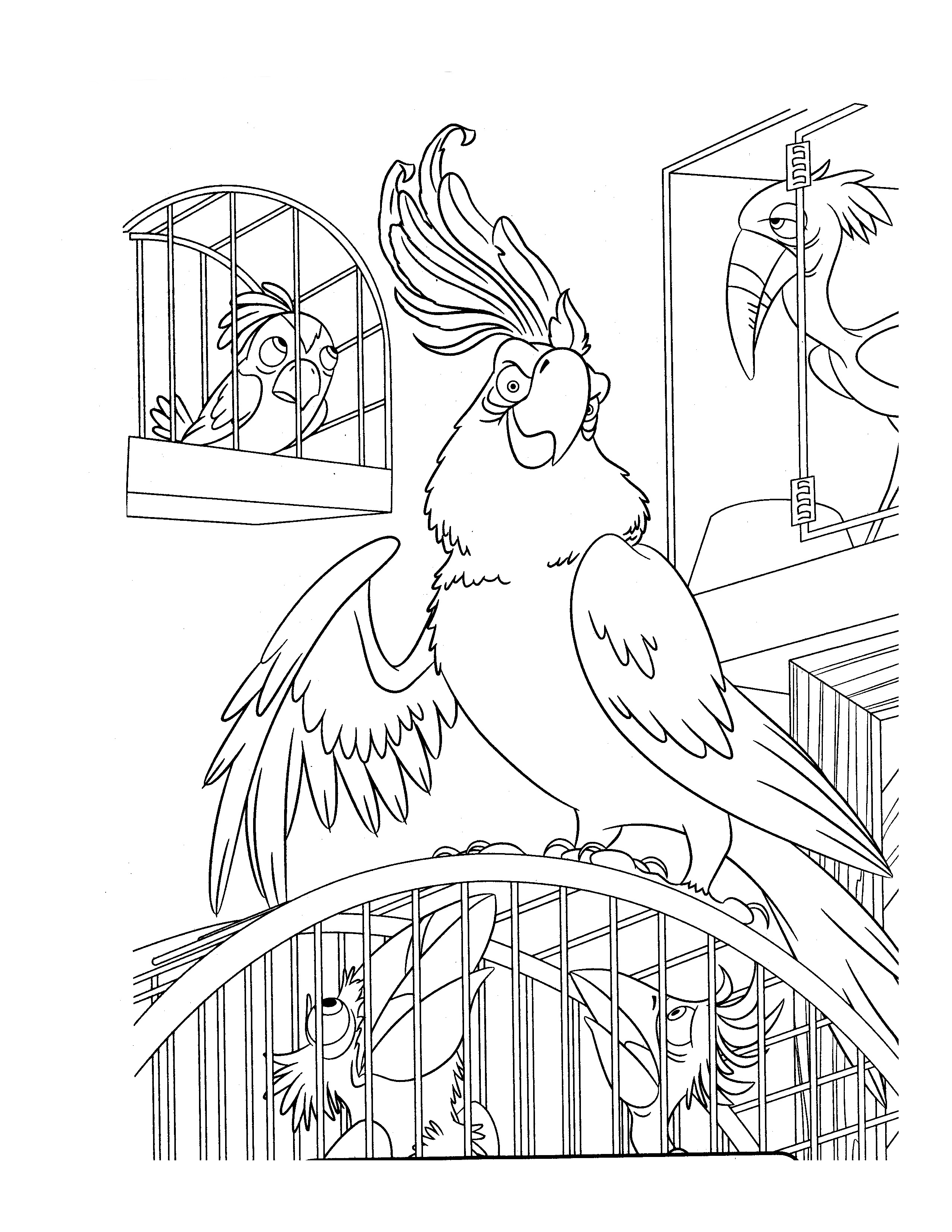 Rio Coloring Page To Download For Free