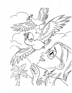 Coloring page rio for children