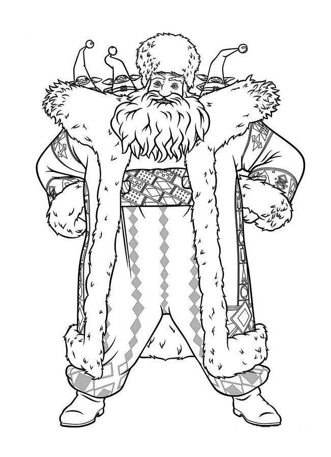 Simple Rise of the Guardians coloring page to download for free
