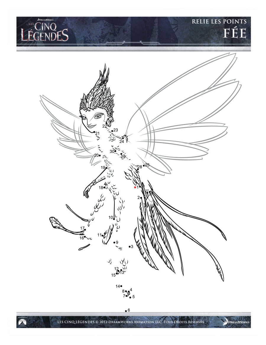 Easy free Rise of the Guardians coloring page to download