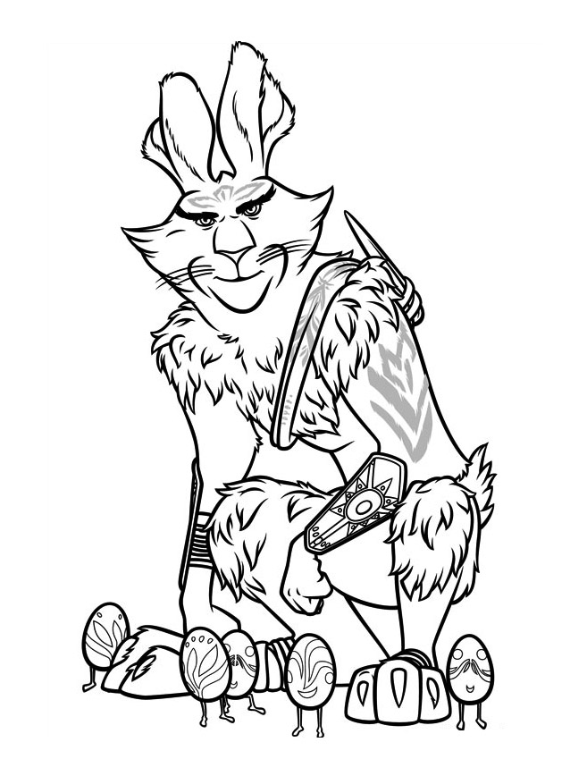 Simple Rise of the Guardians coloring page for children