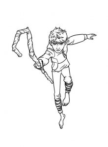 Coloring page rise of the guardians to color for children