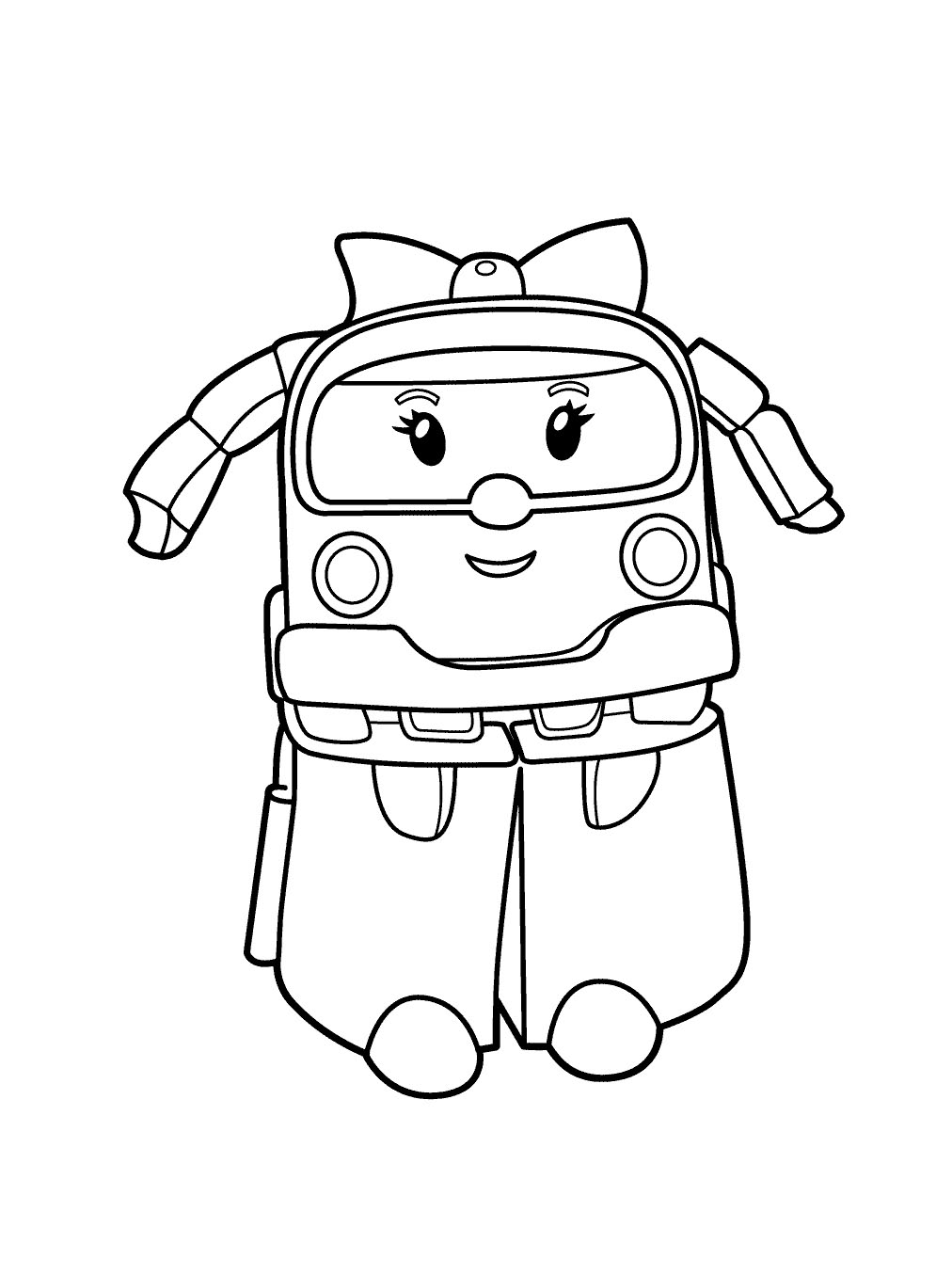 Cute free Robocar Poli coloring page to download
