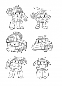 Coloring page robocar poli free to color for kids