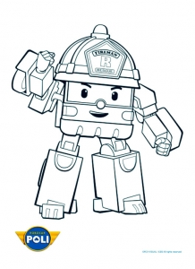 Coloring page robocar poli to download