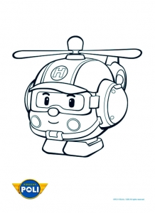 Coloring page robocar poli for kids