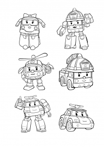 robocar poli coloring pages Robocar Poli   Free printable Coloring pages for kids robocar poli coloring pages