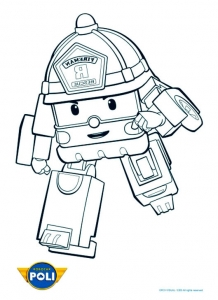 Coloring page robocar poli for children