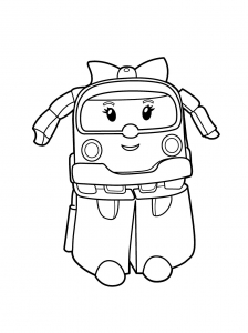 Coloring page robocar poli to download for free